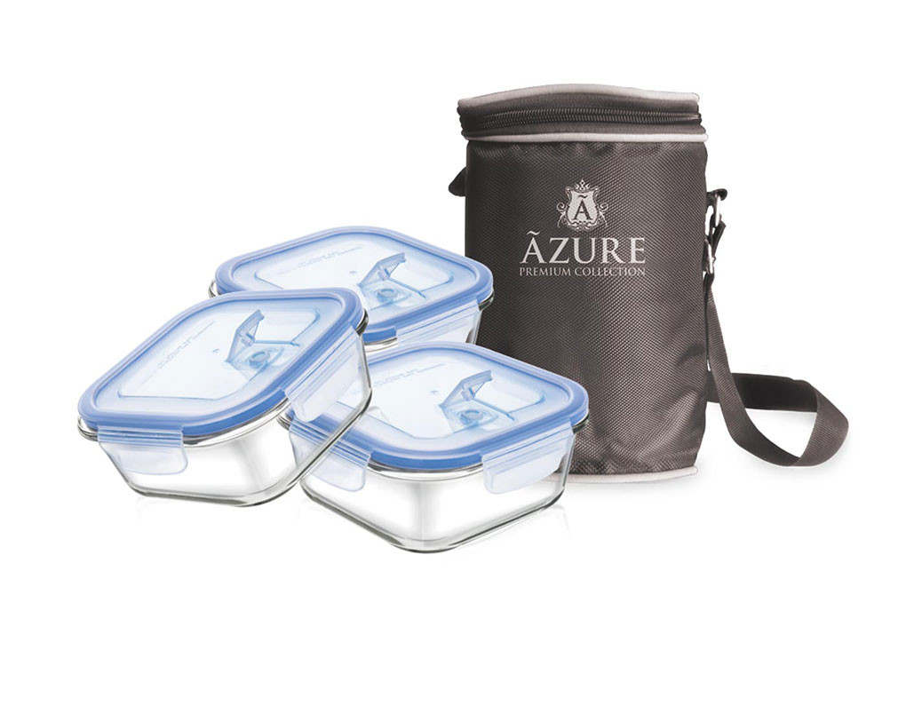 Square Tiffin with Bag Set